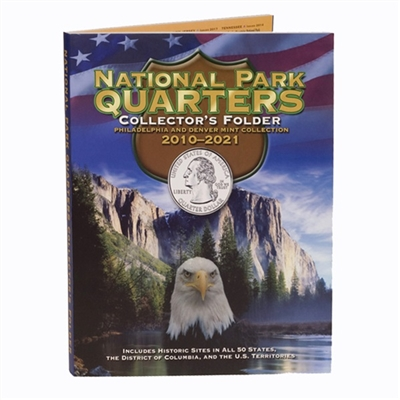 2010 - 2017 P and D 80 Coin National Park Quarter Set In Full Color Harris Folder
