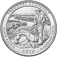 2016 Theodore Roosevelt, ND National Park Quarter