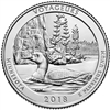 2018 - P Voyageurs National Park, MN National Park Quarter Single Coin