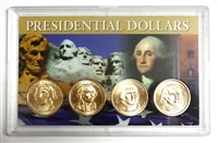 2007 - D Set of 4 Uncirculated Presidential Dollars in Full Color Holder