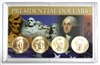 2009 - P Set of 4 Uncirculated Presidential Dollars in Full Color Holder