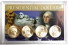 2011 - D Set of 4 Uncirculated Presidential Dollars in Full Color Holder