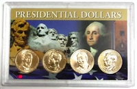 2013 - D Set of 4 Uncirculated Presidential Dollars in Full Color Holder