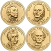 2008 - D Presidential Dollar 4 Coin Set