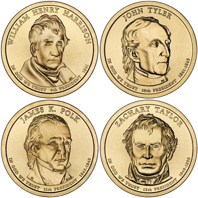 2009 - D Presidential Dollar 4 Coin Set