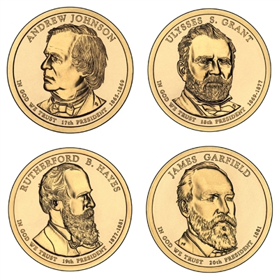 2011 - P Presidential Dollar 4 Coin Set