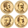 2012 - D Presidential Dollar 4 Coin Set