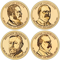 2012 - P Presidential Dollar 4 Coin Set