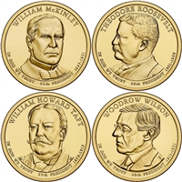 2013 - D Presidential Dollar 4 Coin Set