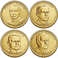 2014 - P and D Presidential Dollar 8 Coin Set