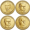 2014 - D Presidential Dollar 4 Coin Set
