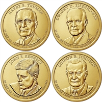 2015 - D Presidential Dollar 4 Coin Set