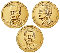2016 - D Presidential Dollar 3 Coin Set