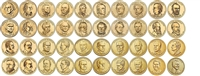 2007 - 2016 P and D Presidential Dollars 78 Coin Set in Full Color Littleton Coin Folder