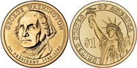 2007 George Washington Presidential Dollar - 2 Coin P&D Set