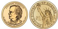 2011 Andrew Johnson Presidential Dollar - 2 Coin P&D Set
