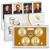 2013 Presidential 4-coin Proof Set w/Box & COA