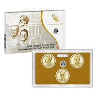 2016 Presidential 3-coin Proof Set w/Box & COA