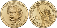 2010 - D Franklin Pierce - Roll of 25 Presidential Dollar