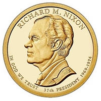 2016 - D Richard M. Nixon - Roll of 25 Presidential Dollar