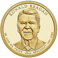 2016 - P Ronald Reagan - Roll of 25 Presidential Dollar