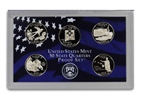 2008 - S Clad Proof State Quarter 5-pc. Set No Box or CoA