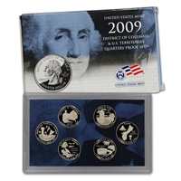 2009 - S Clad Proof Territory Quarter 6-pc. Set With Box/ COA