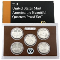 2011 - S Clad Proof National Park Quarter 5-pc. Set With Box/ COA