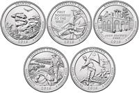 2016 P and D BU National Park Quarter 10 Coin Set