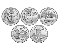 2018 P and D BU National Park Quarter 10 Coin Set