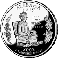 2003 - D Alabama - Roll of 40 State Quarters