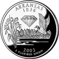 2003 - D Arkansas - Roll of 40 State Quarters