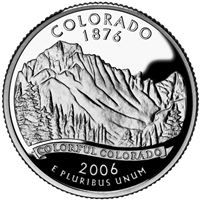 2006 - D Colorado - Roll of 40 State Quarters