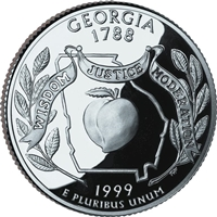 1999 - D Georgia - Roll of 40 State Quarters