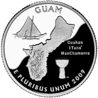 2009 - P Guam Territory Quarter Single Coin