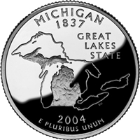 2004 - D Michigan - Roll of 40 State Quarters