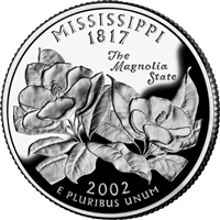 2002 - D Mississippi - Roll of 40 State Quarters