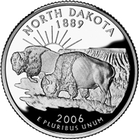 2006 - D North Dakota - Roll of 40 State Quarters