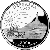2006 - D Nebraska - Roll of 40 State Quarters