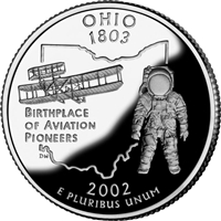2002 - D Ohio - Roll of 40 State Quarters