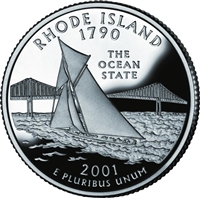 2001 - D Rhode Island - Roll of 40 State Quarters