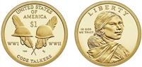 2016 - S Proof Sacagawea Dollar
