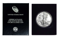 1993 U.S. Silver Eagle in Plastic Air Tite and Blue Gift Box - Gem Brilliant Uncirculated
