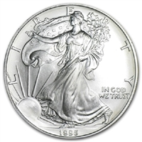 1995 U.S. Silver Eagle - Gem Brilliant Uncirculated