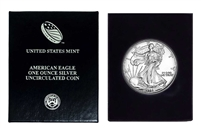 1998 U.S. Silver Eagle in Plastic Air Tite and Blue Gift Box - Gem Brilliant Uncirculated
