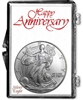 1999 U.S. Silver Eagle in Happy Anniversary Holder - Gem Brilliant Uncirculated