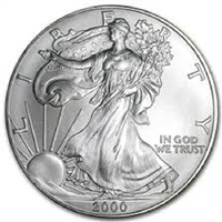 2000 U.S. Silver Eagle - Gem Brilliant Uncirculated