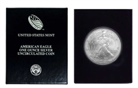 2004 U.S. Silver Eagle in Plastic Air Tite and Blue Gift Box - Gem Brilliant Uncirculated