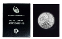 2005 U.S. Silver Eagle in Plastic Air Tite and Blue Gift Box - Gem Brilliant Uncirculated
