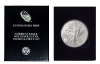 2008 U.S. Silver Eagle in Plastic Air Tite and Blue Gift Box - Gem Brilliant Uncirculated